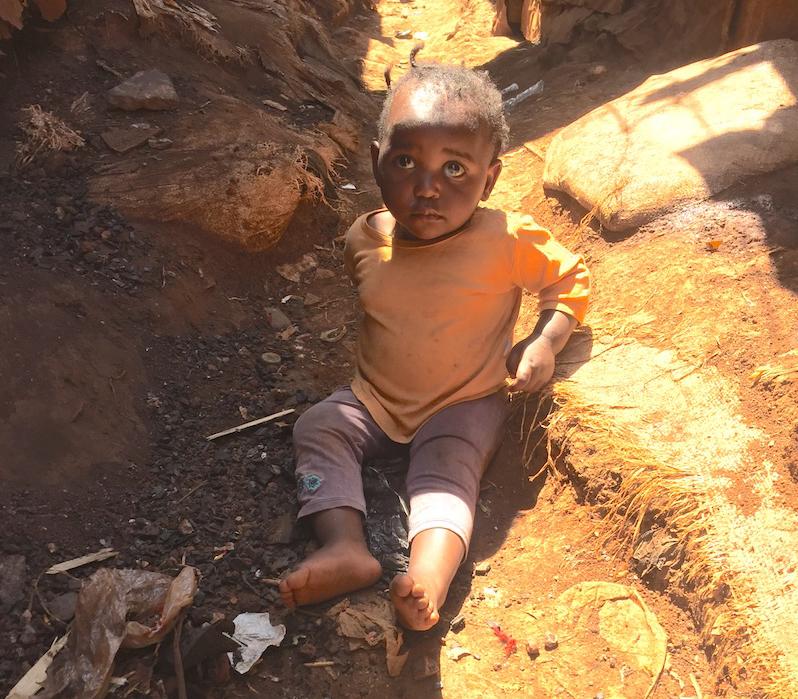Little boy in slum - Fursa Trust